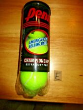 Penn Championship Extra Duty Felt Tennis Balls Pack of 3 Hard Court Not Sealed