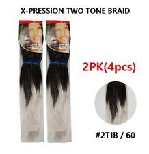 Xpression Hair Ultra Braid two tone Kanekalon 2PK(4pcs)  #2T 1B/60 USA Ship