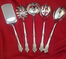 Grande Baroque by Wallace Sterling Silver 5 Piece Hostess Set Custom Made
