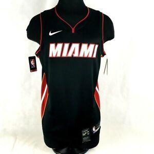 Nike NBA Authentic Miami Heat Basketball Jersey Blank Mens Size 52 XL