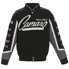 Chevrolet Camaro Racing Embroidered Cotton Collage Jacket JH Design Black
