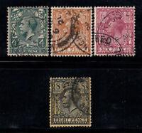 Großbritannien 1912-22 Gestempelt 80% König Georg V, 4 d, 5 d, 6 d, 8 d