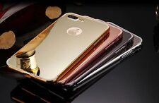Aluminum Metal Bumper Frame +PC Mirror BACK COVER CASE FOR IPHONE 7 PLUS +(5.5)
