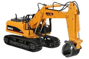 Huina 1:14 2.4G 16Ch RC Excavator W/Grapple,#SFMHN1570