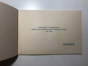 1955 Libro Libretto Folder Omaggio Francobolli Celebrativi Commemorativi Italy
