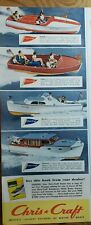 Lot of 3 Vintage 1956 Chris Craft Motor Boats Fast! Dry! Seaworthy! Trade Up