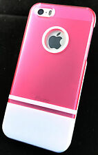 Iphone 5, 5s, 5c, se-rose n white hard case, wt libre screensaver