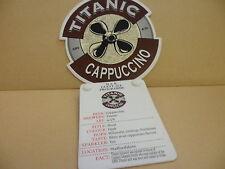 Titanic Cappuccino Ale Pump Clip face pub Collectible w/ Taste Note 37