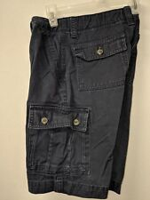 Arizona Jean Co Boys Dark Blue 100% Cotton Uniform Cargo Shorts Sz 12 Reg