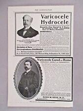 Varicocele Cure PRINT AD - 1903 ~~ quack medicine remedy