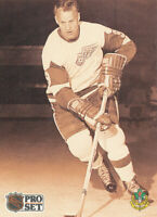 1991-92 Pro Set #344 Gordie Howe French hockey card
