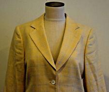 Brooks Brothers Women's Blazer Size 8 Womens Window Pane Silk Linen Wool Italy