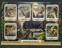 GUINEA BISSAU 2015 DINOSAURS  SHEET  MINT NEVER HINGED