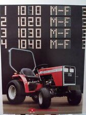Massey Ferguson Mf 1010 1020 1030 1040 Compact Tractor Ampimplement Sales Brochure