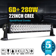 "22"" SPOT FLOOD 280W LED WORK LIGHT BAR SUV 4WD ATV Boat OFFROAD JEEP TRUCK LAMP"