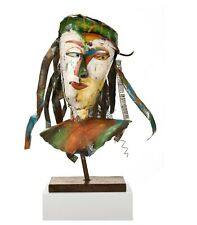 WOW! Giant 71cm Celebration To Picasso Metal Abstract Face Sculpture Italian Art
