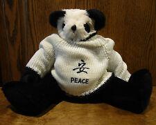 "Berkeley Design Panda Bear #974 PEACE SWEATER, 14"" Jointed, From Retail Store"