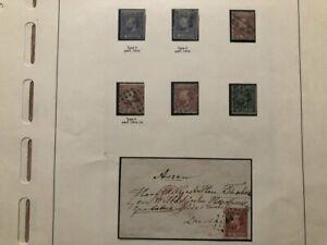 AR14)) Niederlande kleine Partie aus Spezialsammlung 1852-1871°