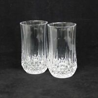 Crystal Set Of 2 Longchamp Clear 10oz Flat Tumbler Cristal D'Arques-Durand Glass