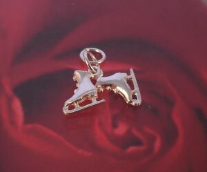 New 925 Sterling Silver ice-skates Charm Pendant - Boxed