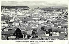 Bird's Eye View, Vista Parcial de Quito Ecuador RPPC