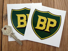 BP pré'58 Style Bouclier Voiture ou Moto Autocollants 75mm paire voiture de course garage essence