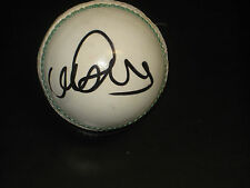 MONTY PANESAR HAND SIGNED WHITE CRICKET BALL UNFRAMED + PHOTO PROOF &  C.O.A