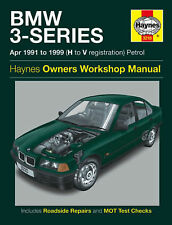 HAYNES MANUAL BMW 3 SERIES 4-CYL & 6-CYL 91-96 H TO N REG PETROL