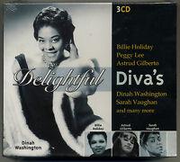 DELIGHTFUL DIVAS * NEW 3-CD Box Set * Billie Holiday,  Ella Fitzgerald,