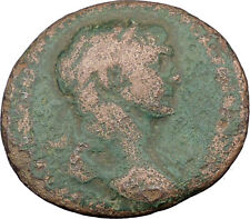 TRAJAN 98AD Large  Ancient Roman Coin Fortuna Tyche Luck Wealth symbol  i32271