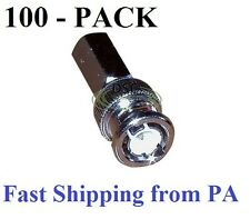 100 Pack Lot - BNC RG59 Twist-on male coax/coaxial connector,CCTV Video cam End