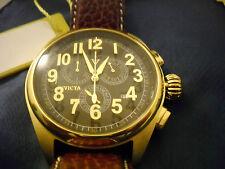 Mint Vintage Retro INVICTA 5463 Analog Quartz Chronograph Watch with Box