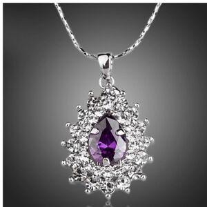 Handmade With Swarovski Crystals The Orino Purple Pendant Necklace $88 S4