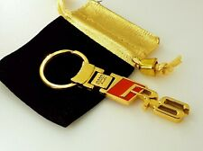 24ct GOLD PLATED AUDI RS KEYRING RS2 RS3 RS4 RS5 RS6 RS7 TT