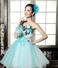 Ansteckblume Rose Perlen Blume Haarklammer Haargummi Brosche Federn blau C2