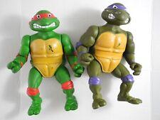 """Ninja Turtles Action Figures 1989 Playmate Toys 16"""" Vintage Donatello Raphael"""