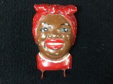 Vintage Black Americana Aunt Jemima Chalkware Wall Hanging Key Hook Holder