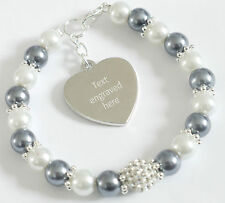 Engraved Personalised Brain Cancer Awareness Bracelet Charity Fundraising Gift