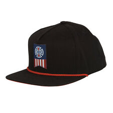 Independent Truck Co Iron Cross Label Cross Snapback Hat Cap Mens Black Red