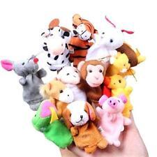 FINGERPUPPEN TIERE 12 Stück Zoo Safari Handpuppen Set Stofftiere TOP PREIS *NEU*