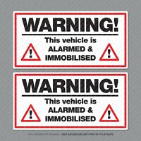 Warning This Vehicle Is Alarmed And Immobilised Car Van Taxi Sticker - SKU5297