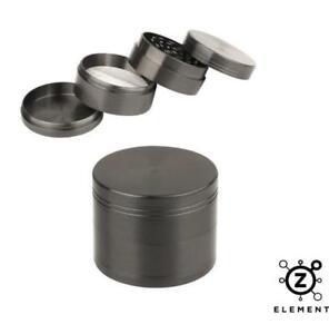 40mm Gun Metal Grey Aluminium Hand Grinder 4 Part Tobacco Herb Crusher Muller IE