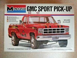 Monogram GMC Sport Pick-Up Original 1978 Factory Release Still Sealed Very Rare.