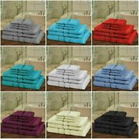 Luxury 6 Pcs Towels Bale Set Satin Stripe 100% Egyptian Cotton Soft Bath Hand