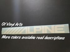 Alpine Decals Windshield Banners Car Stickers JDM Graphics