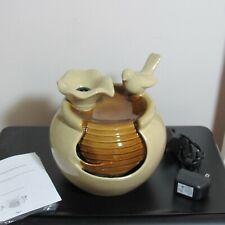 Valerie Parr Ceramic Bird Bath Indoor Lighted New