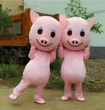 Newly Christmas Pig Mascot Party Cosplay Adult Dress Animal Costume Outfit Game
