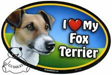 I Love My Fox Terrier Dog Car Magnet Scandical Heart Puppy Realistic Pet Fun Nwt