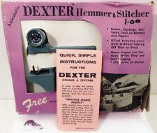 Vintage Dexter Hemmer Stitcher Hand Sewing Machine in Box w Instructions Zig Zag