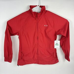 Oakley Women's Par Jacket Large Jet Red Water Repellent Wind New Old Stock 2011